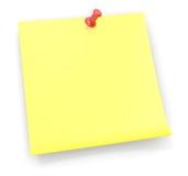 Note collante de rappel Images libres de droits