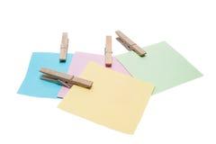 Note colorée de rappel Photographie stock libre de droits