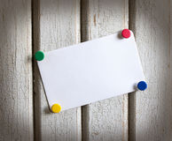 Note with colored buttons Stock Images