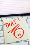 Note on computer keyboard: diet Royalty Free Stock Image