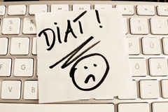 Note on computer keyboard: diet Stock Image