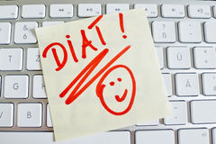 Note on computer keyboard: diet Stock Photography
