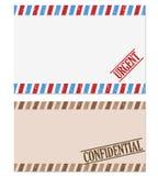 Note confidentielle et pressante Photo stock