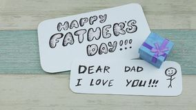 Fathers day and gift box