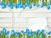 Note with copy space and tulip. EPS 10 Stock Photography