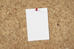 Note on cork background Royalty Free Stock Image