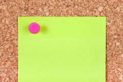 Note on Corkboard Royalty Free Stock Image