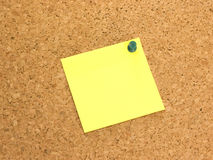 Note on Corkboard Royalty Free Stock Images