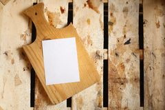 Note in a crate Stock Photography