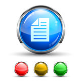 Note Cristal Glossy Button Stock Photo