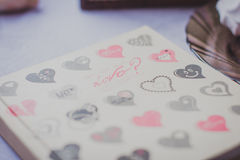 Note. With cute heart stock images