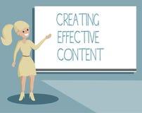 Note d'écriture montrant créant le contenu efficace Utilisateur instructif de présentation de données de valeur de photo d'affair illustration stock