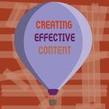 Note d'écriture montrant créant le contenu efficace Utilisateur instructif de présentation de données de valeur de photo d'affair illustration libre de droits