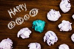 Note d'écriture montrant 2019 heureux Les photos d'affaires présentant la célébration de nouvelle année encourage des mots de mot Images libres de droits