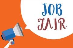 Note d'écriture montrant Job Fair Photo d'affaires présentant un événement où une personne peut faire acte de candidature pour un illustration de vecteur