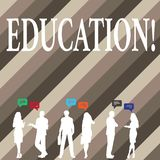 Note d'écriture montrant l'éducation Enseignement de présentation de photo d'affaires des étudiants par exécution de la dernière  illustration de vecteur