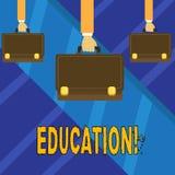 Note d'écriture montrant l'éducation Enseignement de présentation de photo d'affaires des étudiants par exécution de la dernière  illustration stock