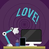 Note d'écriture montrant l'amour Photo d'affaires présentant l'attachement sexuel de Roanalysistic d'affection profonde intense d illustration libre de droits