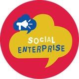 Note d'écriture montrant l'entreprise sociale Affaires de présentation de photo d'affaires qui gagnent l'argent dans socialement  illustration stock