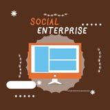 Note d'écriture montrant l'entreprise sociale Affaires de présentation de photo d'affaires qui gagnent l'argent dans socialement  illustration de vecteur