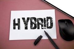 Note d'écriture montrant l'hybride Progéniture de présentation de photo d'affaires de deux plantes ou animaux de différentes espè photo libre de droits