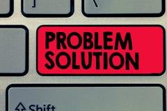 Note d'écriture montrant la solution de problème La solution de présentation de photo d'affaires se compose employer des méthodes images libres de droits