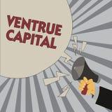 Note d'écriture montrant le capital de Ventrue Le financement de présentation de photo d'affaires a fourni par des entreprises à  illustration libre de droits