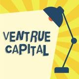Note d'écriture montrant le capital de Ventrue Le financement de présentation de photo d'affaires a fourni par des entreprises à  illustration de vecteur