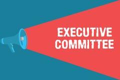 Note d'écriture montrant le comité de direction Le groupe de présentation de photo d'affaires de directeurs désignés a l'autorité illustration stock