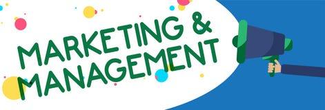 Note d'écriture montrant le marketing et la gestion Processus de présentation de photo d'affaires de développer des stratégies po illustration de vecteur