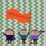 Note d'écriture montrant Periodontitis Gonflement de présentation de photo d'affaires du tissu autour du rétrécissement de dents  illustration libre de droits