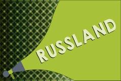 Note d'écriture montrant Russland Photo d'affaires présentant l'ancien empire de l'Europe de l'Est et de l'Asie du nord slaves illustration libre de droits