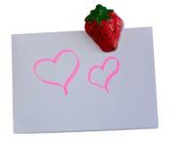 Note d'amour Photo libre de droits