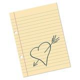 Note d'amour illustration libre de droits