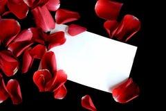 Note d'amour Photos libres de droits