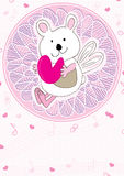 Note d'amour d'ours Image stock