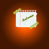 Note d'automne Image stock