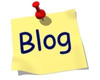 Note de blog Photo stock
