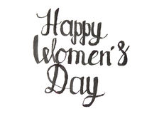 Note de calligraphie du jour des femmes heureuses Image libre de droits