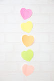 Note de coeurs de post-it Photo libre de droits