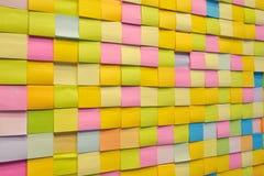 Note de couleur de papier images libres de droits