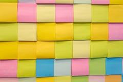 Note de couleur de papier photo libre de droits