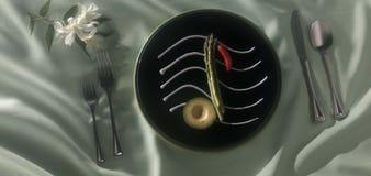 Note de dîner Photographie stock libre de droits