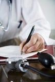 Note de médecins photographie stock