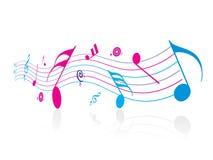 Note de musique Photographie stock libre de droits