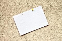 Note de papier Photos stock