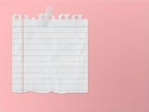 Note de papier 2 Photographie stock libre de droits