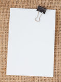 Note de papier blanc Image stock