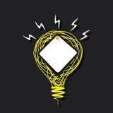 Note de papier créative sur la conception d'ampoule de croquis Image libre de droits