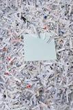 Note de papier et collante déchiquetée Photographie stock